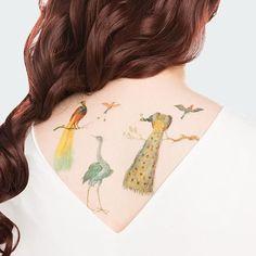 Painted Plumage Tattoo Set