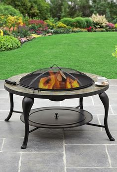 "Better Homes and Gardens 35"" Slate Fire Pit  #BHGMakeitFunEntry"