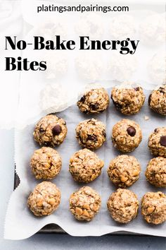 These No-Bake Energy Bites are an easy, healthy treat that will keep you energized all day long! They can be made into three tasty flavors - Butterscotch, Chocolate Chip, or White Chocolate Cranberry. Keep them in the fridge for up to one week for a grab-and-go breakfast that is perfectly satisfying. // energy balls // breakfast recipe // snack recipe // healthy // recipes // for kids