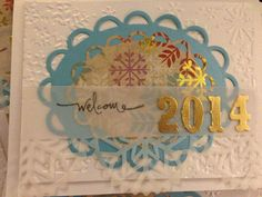 2014 embossed New Years card