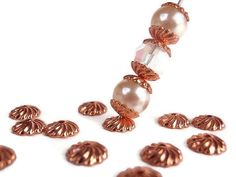 50 Beads 5 mm Rose Gold Jewelry making Supply by LKcreativedesigns