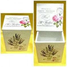 Multifunction box with elegant vintage design ready to decorate your room. Size: 10x11,5x10 cm