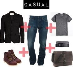 """""""CASUAL FOR MEN"""" by maribelsayeg on Polyvore exchange boots for Chukka"""