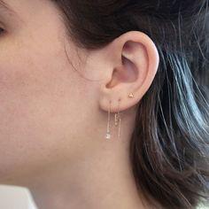 Diamond Drop Earrings by Kataoka