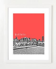 Buffalo Skyline Poster
