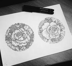 #tattoo #sketch #flower