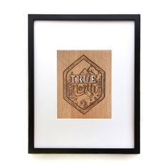 True North | Adventure Travel Wood Laser Cut Print