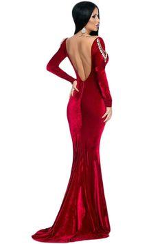 Robe longue rouge ebay