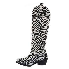 Botas Cano Alto zebra Fur Jacket, Biker, Boots, Ebay, Fashion, High Tops, Women's Boots, Canoe, Women's