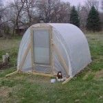 How to Build a Simple DIY hoop-style greenhouse | living Green And Frugally