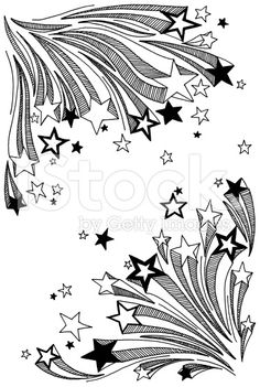 shooting star doodles royalty-free stock illustration