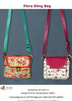 Flora Sling Bag Craftsy Handbag Patterns To Sew Sewing Free