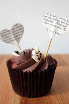 Heart Shaped Cupcake Toppers From a Victor Hugo Classic