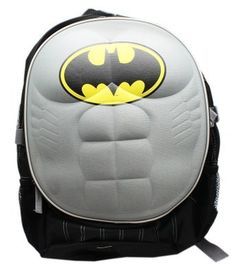 DC Comics Batman 'Molded Padded Chest' School Backpack * Continue to the product at the image link. Boys Backpacks, School Backpacks, Awesome Backpacks, Hiking Backpack, Laptop Backpack, Backpack Reviews, Band Tees, Superhero Logos, Travel Style