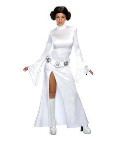 White Princess Leia Satin Dress-Up Set - Women by Rubie's #zulily #zulilyfinds