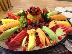 Canadian Honker Events at Apace, Rochester MN Fruit Platter Designs, Creative Food Art, Fruit Ideas, Fruit Trays, Food Garnishes, Food Displays, Hors D'oeuvres, Cooking Tips, Food To Make