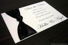 Elegant Black & White Save the Date wedding invitation cards by StunningStationery, on Etsy