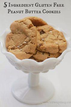 5 Ingredient Gluten Free Peanut Butter Cookie. www.bddesignblog.com #glutenfree #cookie