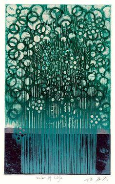 Takahiko Hayashi ~ Water of life, 2016 (etching, engraving, chine collé)