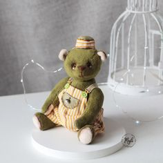 Teddy art , handmade Teddy Bear, Dolls, Handmade, Animals, Art, Baby Dolls, Art Background, Hand Made, Animales