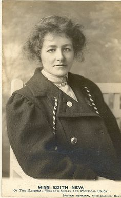 Portrait of Edith New, a Swindon Suffragette