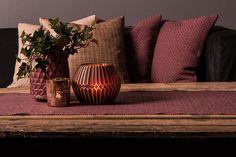 #blackdesign #textiles #livingroom #aubergine #burgundy #interiordesign