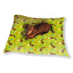 Uneekee Easter Bunny Green Dog Pillow Luxury Dog / Cat Pet Bed