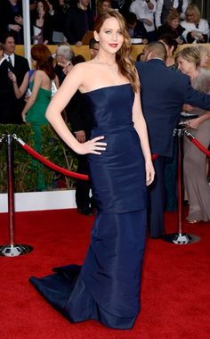 Jennifer Lawrence in Christian Dior at the 2013 (SAG) Screen Actors Guild Awards. (EOnline.com)