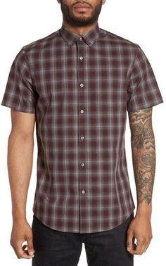 Men's Calibrate Plaid Non-Iron Sport Shirt