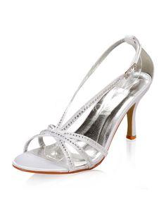 Open Toe Rhinestone Bridal Wedding Sandals - Milanoo.com