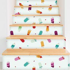 "Popsicle Paradise Removable 5' x 20"" Wallpaper"