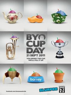 BYO Cup Day Posters for 711 by leo burnett melbourne