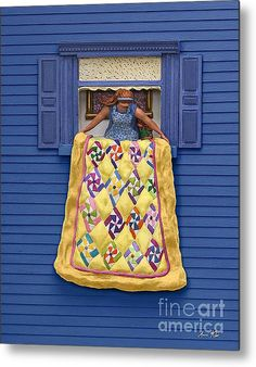Quilted Showing Metal Print By Anne Klar #quilt #quilting
