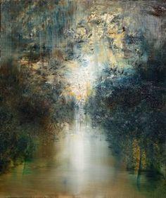 "Artist: Maurice Sapiro; Oil 2016 Painting ""Golden Shadows"""