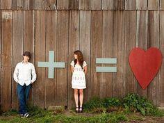 Cute idea! Engagement photo.