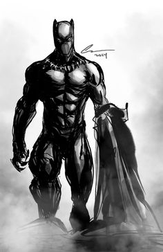 Just a quick Black Panther to get things warmed up! Black Panther Marvel, Black Panther Storm, Black Panther Art, Hq Marvel, Marvel Dc Comics, Marvel Heroes, Storm Marvel, Comic Book Characters, Marvel Characters