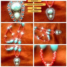 Turquoise and coral,necklace