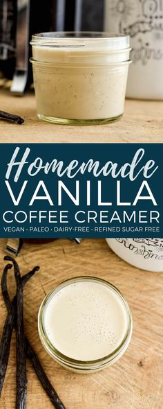 Homemade Paleo Vanilla Coffee Creamer