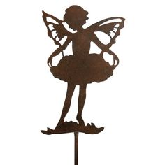 Fairies are a perennial favorite in and around the garden. Silhouettes of garden fairies will be at home among flowers and shrubs.Features: