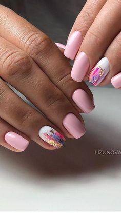 Peach Nails, Pastel Nails, Natural Acrylic Nails, Cute Summer Nails, Pretty Nail Art, Beauty Nails, Nail Art Designs, Gel Nails, Queen
