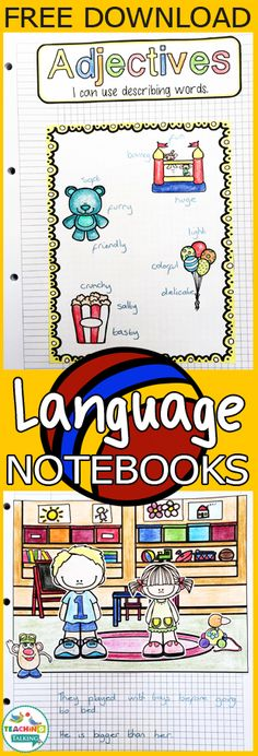These language activities are FREE to download! Your students use the notebook ideas to build a project they are proud of.
