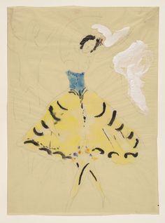 Marc Chagall. Zemphira, costume design for Aleko. (1942)