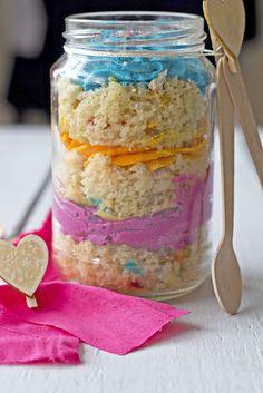 Cupcake in a Mason Jar