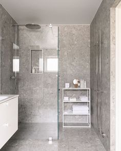 New products on the shelf after treatment at @ . Small Bathroom, Bathtub, Shelves, Instagram, Products, Small Shower Room, Standing Bath, Shelving, Bathroom Small