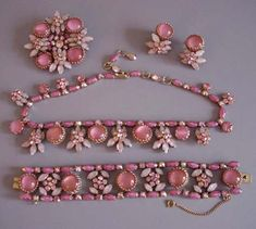 Schreiner NY necklace bracelet brooch and earrings