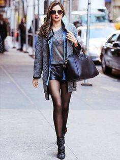 Miranda Kerr is looking stunning in these shorts, which I would never dare wear in winter!!!!
