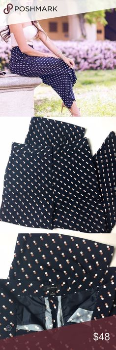 Ann Taylor Culottes Details: Ann Taylor pants in culottes shape. Navy with spots. Size 6 in like-new condition.   Kate Harrington Boutique does not trade or negotiate price in the comment section. However, for most items we may consider reasonable offers.   Happy Poshing! Ann Taylor Pants