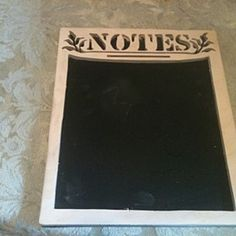 Wooden handmade chalkboard note wall hanging by Fine Crafts on Opensky
