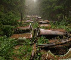''Cemitérios'' de carros em Chatillon, na Bélgica