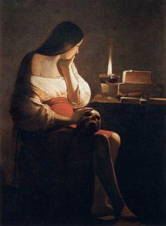 Magdalene of Night Light, Georges de la Tour, 1640-45